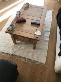 Large white rag rug machine washable