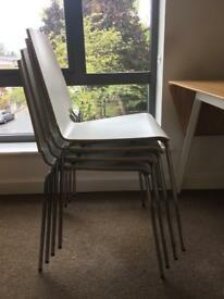 Set of 4 stackable dining chairs (IKEA)