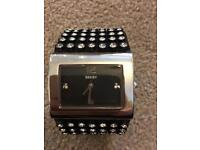 Seksy black diamanté watch