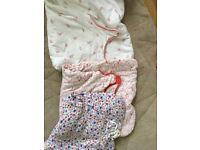 3 baby girls sleeping bags 6-18 Months.