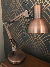 Copper dunelm desk lamp