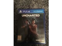 Uncharted the lost legacy PS4 game like new with unused DLC code