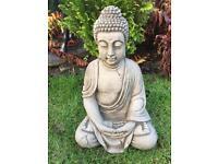 Stone garden antique style Buddha, lovely detail.