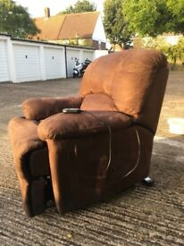 Electric recliner and riser chair