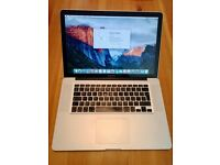MacBook Pro 15 inch, 2Gb memory, 250Gb hard disk, late 2008
