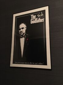 The Godfather framed iconic film poster