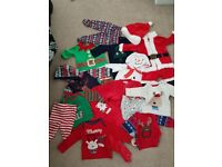 Christmas clothing 0-3 months. Pet and smoke free home. Good condition