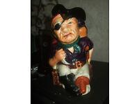 Toby jug,Shorter and son Long John Silver collectable jug,good condition