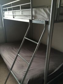 Bunkbed with mattress. No smoking , no pets house. Good condition.