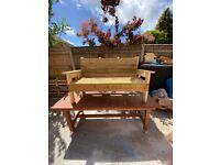 Handmade solid garden benches