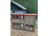 Double rabbit hutch guinea pig cage