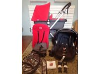 Bugaboo Cameleon 2 Charcoal & Red Travel System