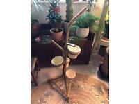 Vintage Bamboo Tiki Plant Stand