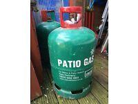 Patio gas bottle