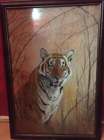 Large tiger cloth painting