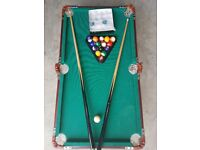 Pool table 3ft x 2ft (ish)