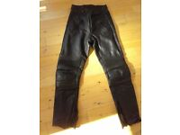 Belstaff Black leather motorbike trousers