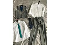 Boys NEXT grey suit aged 7-8yeara