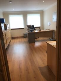 High Quality Secure Office to let in Ardrossan town centre with secure off road parking.