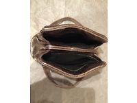 Sigerson Morrison Lambskin silver bag -rare