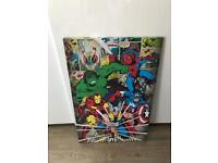 Marvel LARGE canvas with NEXT canvas.