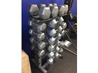 Dumbell tower storage rack
