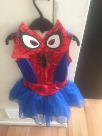 Spider girl costume brand new with tags age 3-4