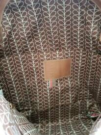 Orla Kiely vintage leather Handbag, hardly used,