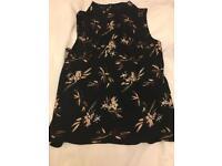 Size 18 Black print sleeveless top BNWT