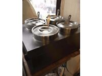 Commercial Catering 4 pots Electric bain marie Food Sauce Warmer Pot