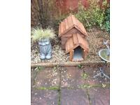 Carpeted cat kennel/dog kennel. Wood treated.