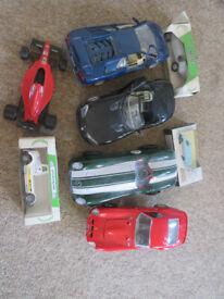 8 x toy metal cars