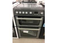 BRAND NEW HOTPOINT ULTIMA SILVER 60CM GAS COOKER WITH OVEN GRILL