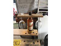 Handmade reclaimed wood wine glass holder