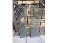 2 double glazed panels