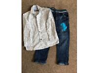 Boys Jeans and Shirt set - 3/4yrs