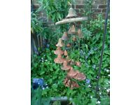 LOVELY CLAY TERRACOTTA HANGING GARDEN ORNAMENT CHIME-COLLECT