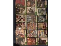25 Xbox 360 games and a few ps4 game