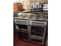 Flavel**NEW**Dual Fuel 100cm 7burner*PRP£649.99 silver warranty included SPECIAL SALE ON £429.99