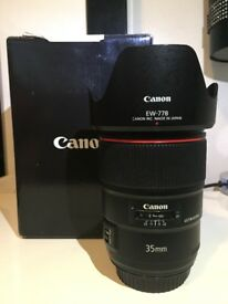 Canon 35mm 1.4 mark ii lens
