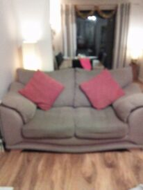Suite 3 and 2 seater fabric couches brown