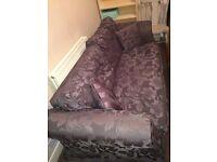 Sofa Set Dark Grey 1 seater & 3 seater & foot stool