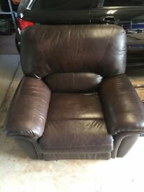 Leather Lazy Boy Manual Recliner Chair