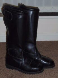 Frank Thomas Biker Leather Boots