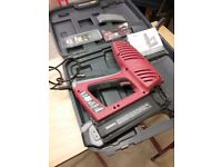 As new electric nail gun arrow 240v with some nails 50 mm maximum nails never used