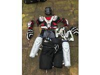 Full ice hockey kit ideal for beginner to intermediate palyers