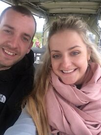Young professional couple looking for a one bedroom flat
