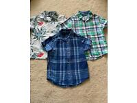 Three short sleeve shirts from Next age 4yrs in euc