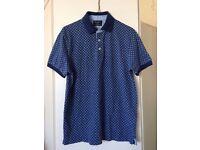 Men's Hackett blue polo shirt