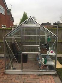 6x4 glass greenhouse
